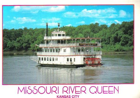missouri river queen paddle boat kansas city postcard - Paddle Boats Kansas City
