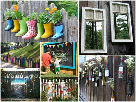 fence decorations 17 creative garden fence decoration ideas design swan