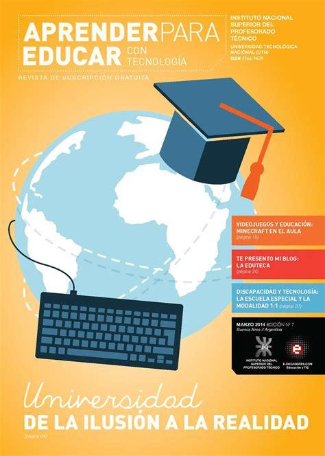 educar en la realidad calam 233 o revista quot aprender para educar con tecnolog 237 a quot n 250 mero 7