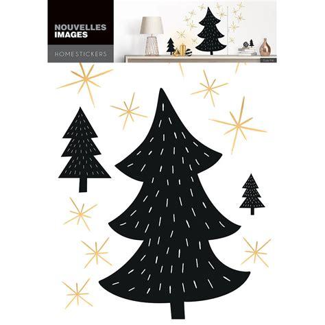 Aufkleber Sterne Weihnachten by Weihnachts Wandtattoo Aufkleber Schwarze Tannen