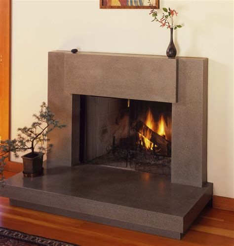 contemporary polished concrete fireplace surround totally   redo  tile