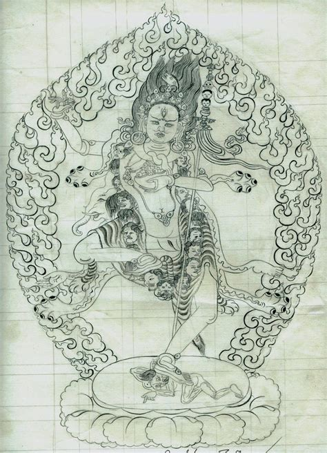 Sketches By Artists by Thangka Sketches By Thankgka Artist Dhondup Lhasa