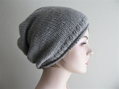 beanie knit hat pattern slouchy beanie pattern by tvbapril24092218 craftsy