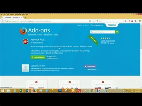 How to Install Adblock Plus Add-ons in Firefox Browser ... Install Firefox Windows 7