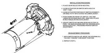 chevrolet astro questions where is the neutral safety switch back up light switch cargurus