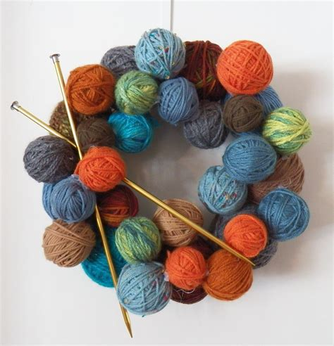 knit yarn yarn wreath quot a place for learning quot