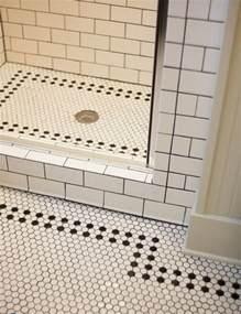 Hexagon Bathroom Tile - 37 black and white hexagon bathroom floor tile ideas and pictures