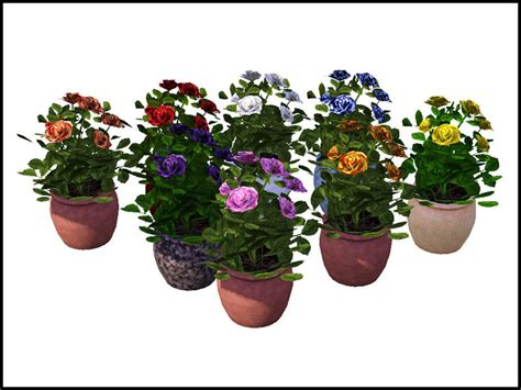 empire sims 3 3 small potted plants by lisen801 sim man123 s potted rose bush