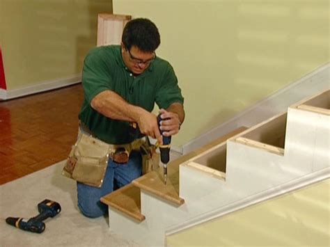 how to install banister on stairs how to install new stair treads and railings how tos diy