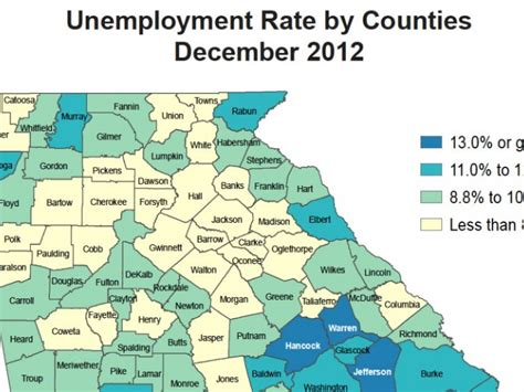bartow county unemployment rate matches average patch