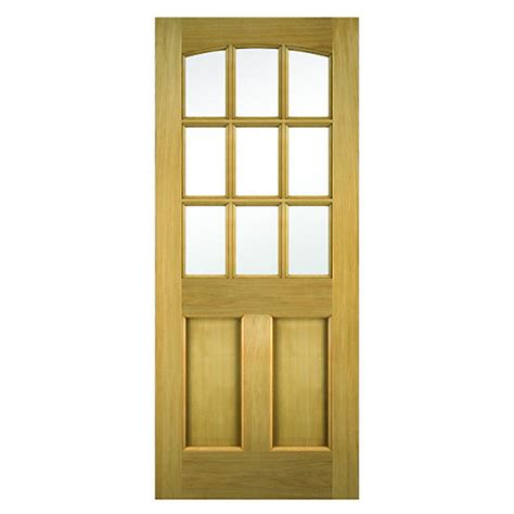 Wickes Doors Exterior Wickes External Oak Veneer Door Glazed 2 Panel 1981x762mm Wickes Co Uk