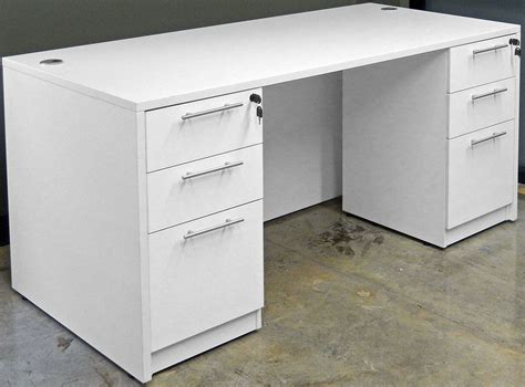 white office desk with drawers white u shaped workstation w hutch
