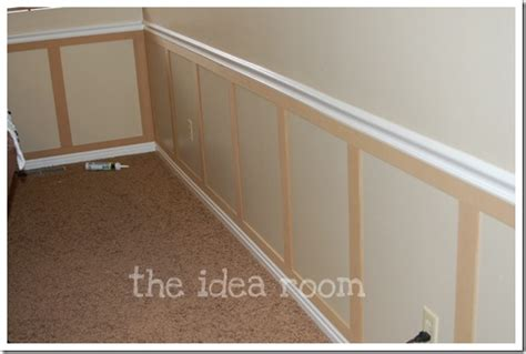 Mdf Chair Rail - faux wainscoting diy version 2 the idea room