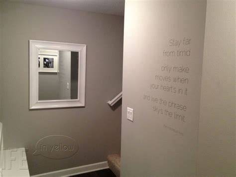 quot mindful gray quot sherwin williams paint color vinyl lettering can add a focus to a small wall