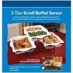 3 buffet server 3 tier scroll buffet server sam s club