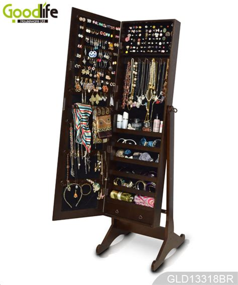 Cherry Wooden Standing Mirror Jewelry Armoire by Wooden Mirror Jewelry Armoire With Enough Stock For Fast