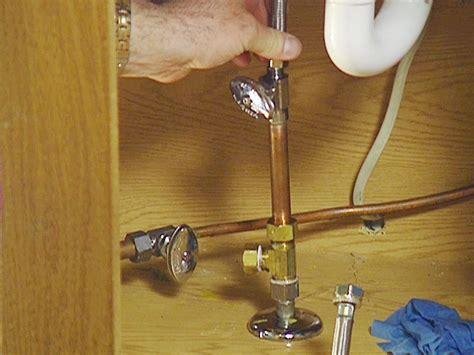 water shut off valve under how to install an under sink water filter how tos diy