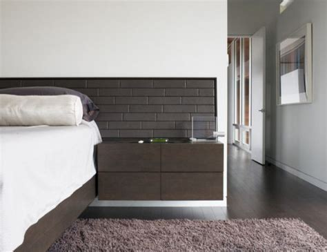 modern night stands bedroom simple modern and space saving floating nightstands for