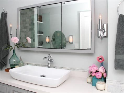 cheap way to decorate bathroom cheap ways to freshen up your bathroom countertop hgtv