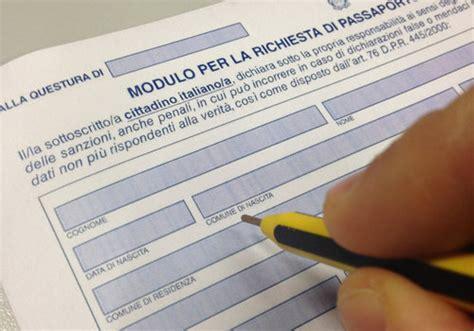 consolato di modulo richiesta passaporto moduli it