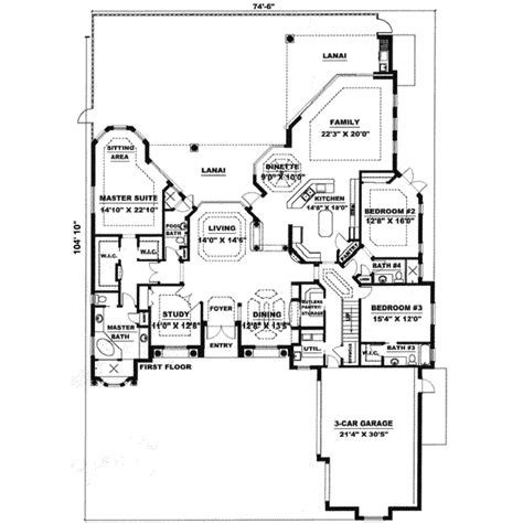 4000 square foot house plans mediterranean style house plan 3 beds 3 5 baths 4000 sq