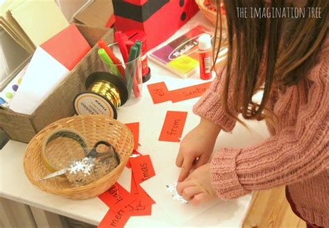 Top Red Living Room christmas literacy activity post office writing table