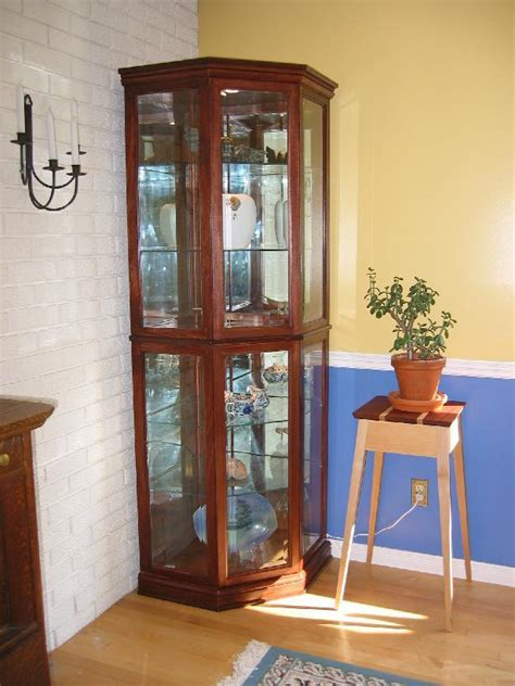 Curio Cabinets Cheap : Rustic Living Room with Rustic