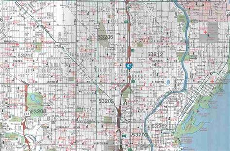 maps milwaukee themapstore milwaukee metro wisconsin map