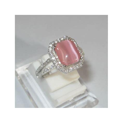 Cincin Wanita Perak Asli Mata Sapphire Cincin Perak Asli Chrome cincin pink quartz cat eye silver 925 ukuran 6 5us