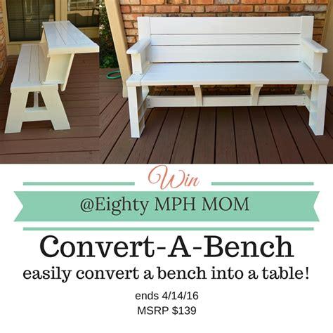 convert a bench folding picnic table convert a bench it s a picnic table and a bench eighty mph mom oregon mom blog