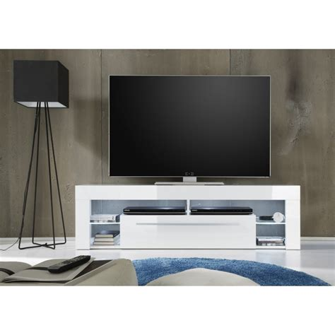 Tv Stand In White High Gloss With Led Lights Tv