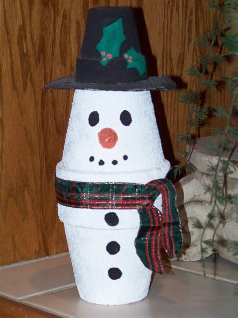 clay pot snowman craft xmaspin