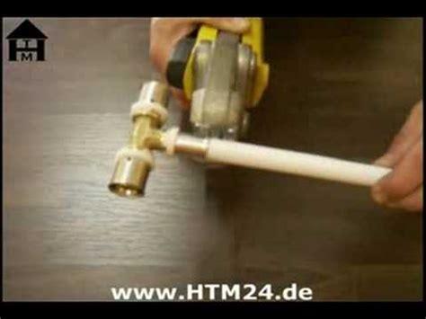 Kupferrohr Selber Pressen by Installation Mit Mehrschichtverbundrohr Und Pressfittings