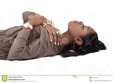 woman reclining young african american woman reclining stock images