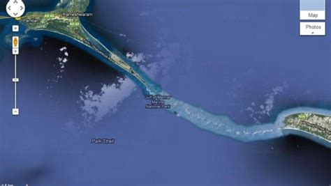 satellite image of ram setu with dreams become with vision nasa