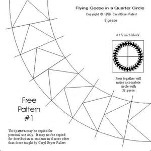 flying geese template flying geese circles and paper pieced patterns on