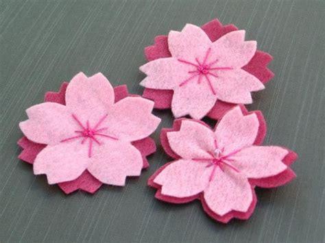 membuat bunga sakura  kain flanel bunda