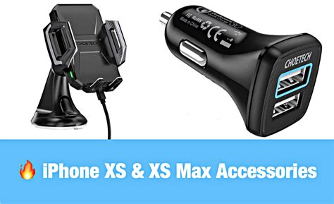 choetech deals iphone xs xs max car wireless charger