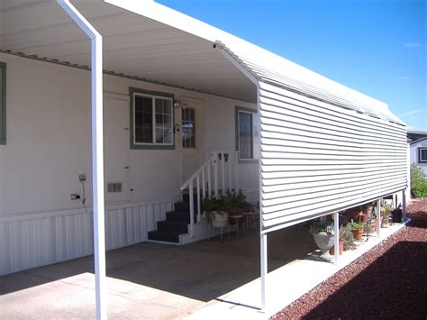 mobile home awning supports awning extender posts abesco distributing co inc the