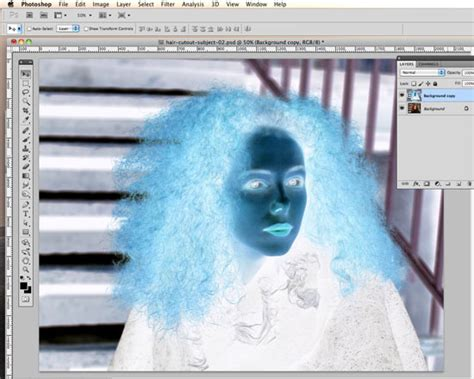 photoshop invert colors how to cut out hair in photoshop using replace color and