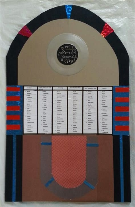 Wedding Joke Box by Jukebox Style Table Plan Board 50s 60s Wedding 50 S