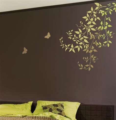 wall paint templates wall stencil large clematis branch reusable stencil for easy