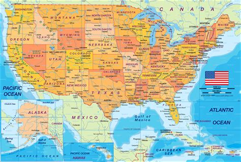 map of usa politically map in the atlas of the world