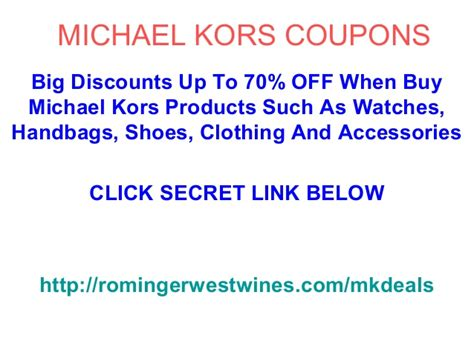 michael kors promo code discounts coupons 2015 michael kors coupons code promo code november 2012