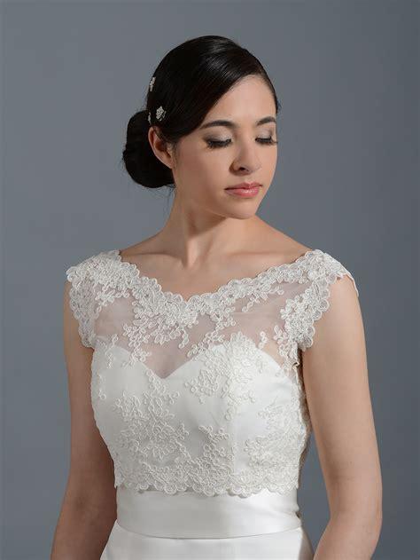 Wedding Jackets by V Neck Re Embroidered Lace Bolero Wedding Jacket