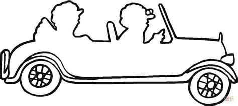 car coloring page outline couple in a car outline coloring page free printable