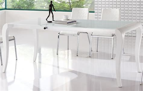 Brisk White Contemporary Extendable Dining Table Columbia Modern White Dining Table