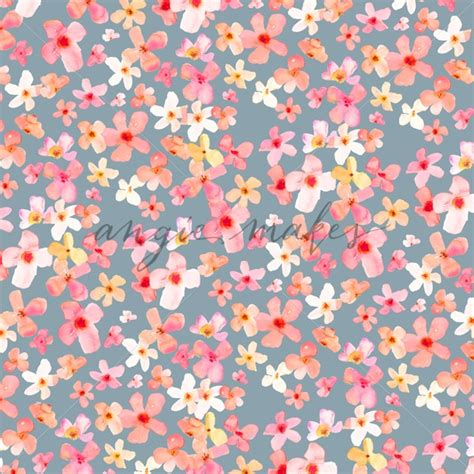 pink watercolor pattern cute watercolor flower background pink spring floral