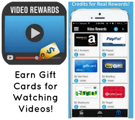 Gift Card Earning Apps - video rewards app earn gift cards for watching videos bullock s buzz