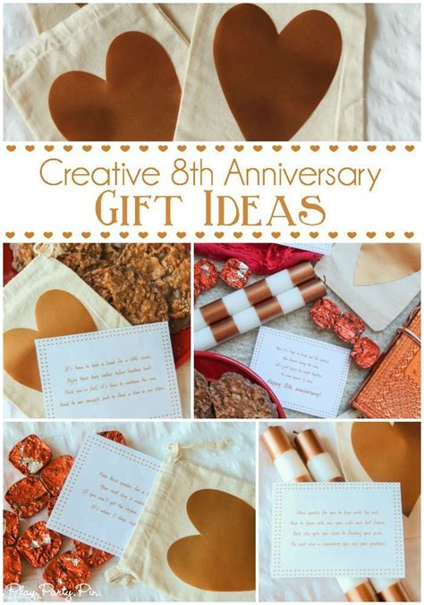 these 8th anniversary gift ideas especially the printable scavenger hunt based on